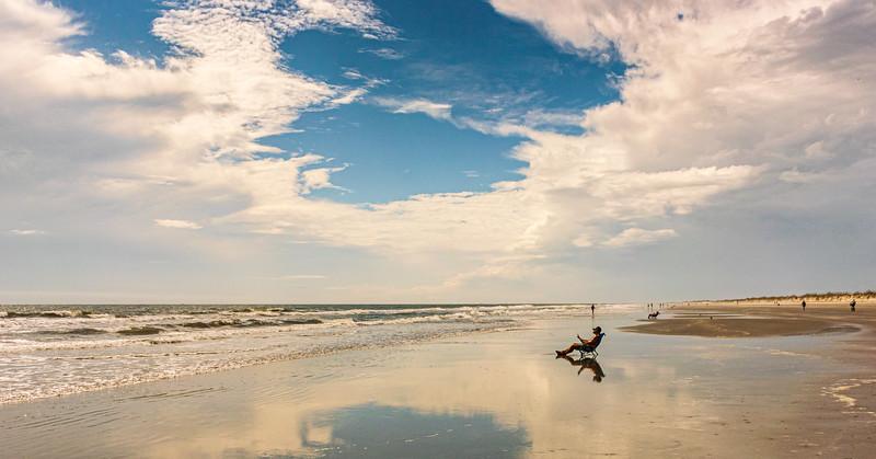 Beach Reading - Sunset Beach, NC, USA