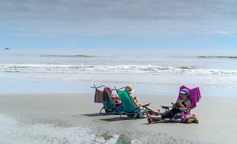 Enjoying a Book - Sunset Beach, NC