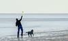 Man & his Dog @ Burkes Beach - Hilton Head Island, SC