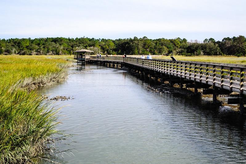 Boardwalk along Oaks Creek @ Huntingdon Beach State Park - Murrells Inlet, SC