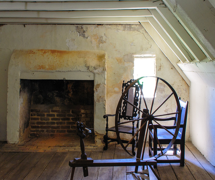 Garret Over the Chamber Room & Spinning Wheel @ Bacon's Castle - Surry, VA
