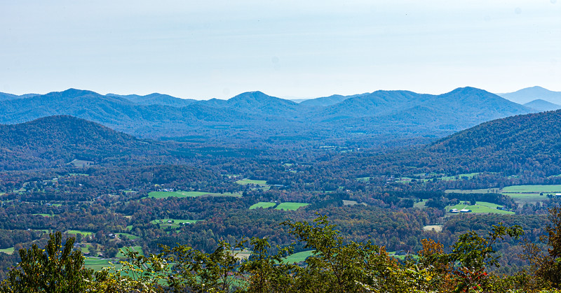 Cooks Hollow from Rockfish Valley Parking Overlook @ MP 1.5 on the Blue Ridge Parkway - Lyndhurst, VA, USA