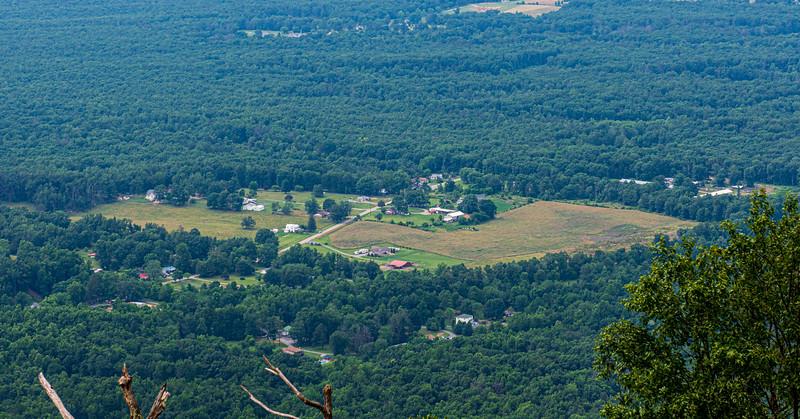 Lyndhurst Area from Rock Point Overlook @ MP 10.4 on the Blue Ridge Parkway - Lyndhurst, VA, USA