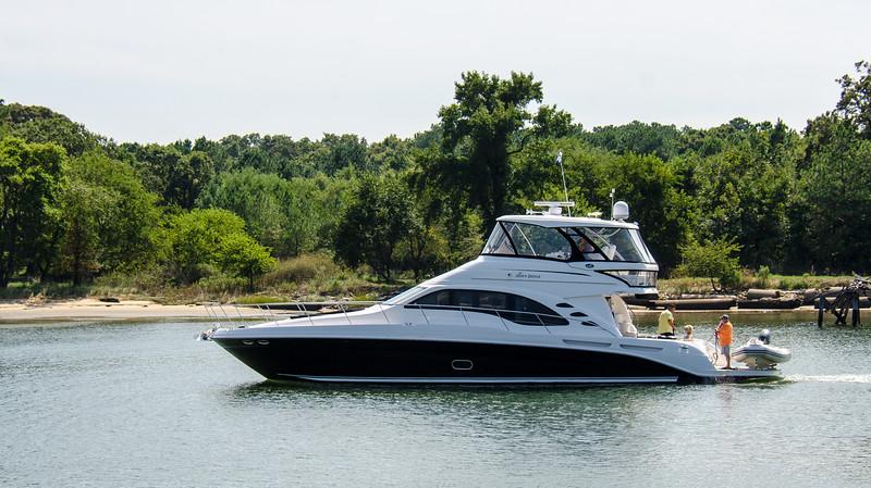 Pleasure Boat Coming Into Harbor - Cape Charles, VA