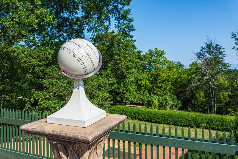 Spherical Sundial (reproduction 2001) @ Monticello - Charlottesville, VA