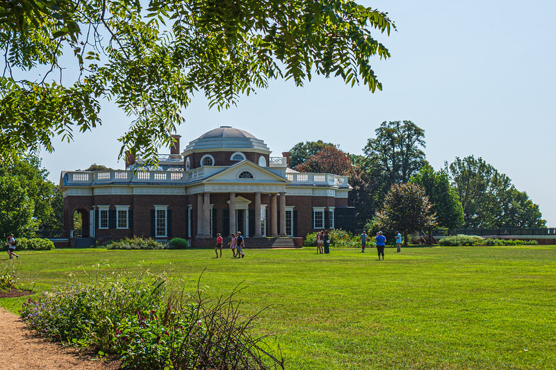 Monticello from West Lawn @ Monticello - Charlottesville, VA