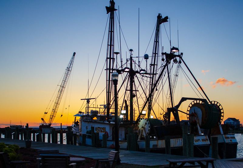 Fishing Boat @ Sunset - Chincoteague, VA