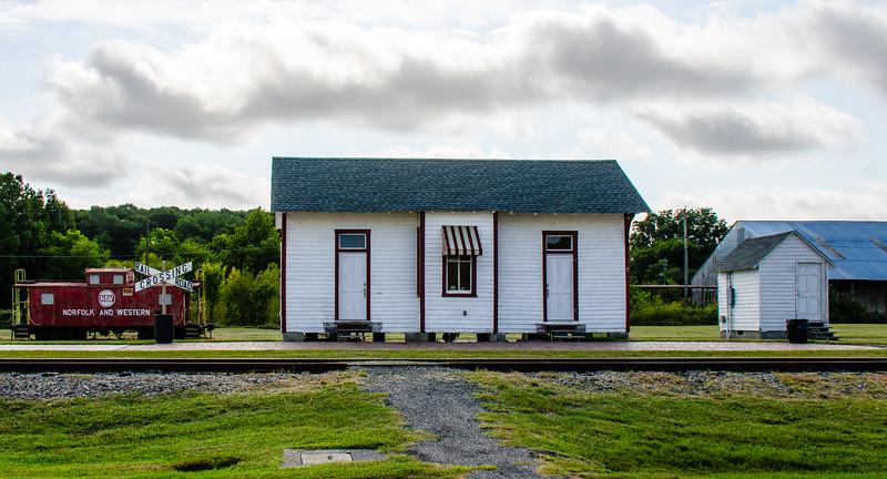 NYP&N Railroad Station c. 1884 - Exmore, VA