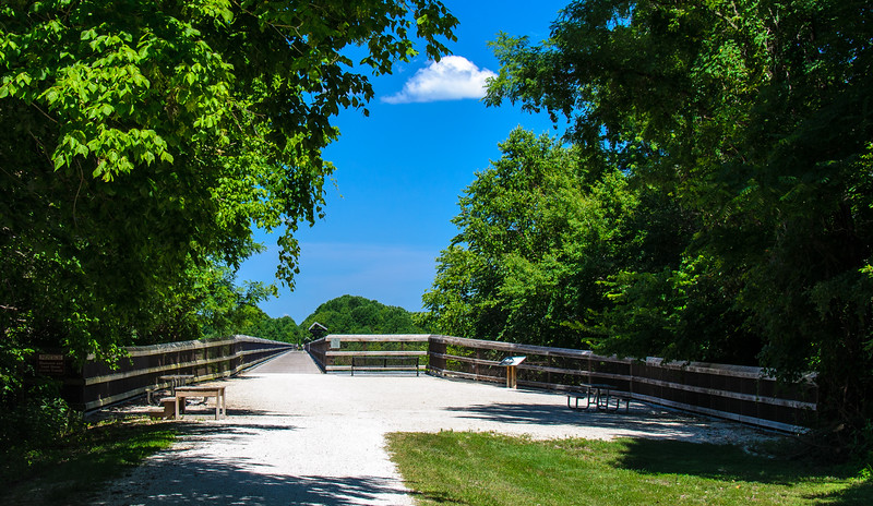 The High Bridge North Side c. 1852 @ High Bridge Trail State Park - Rice, VA