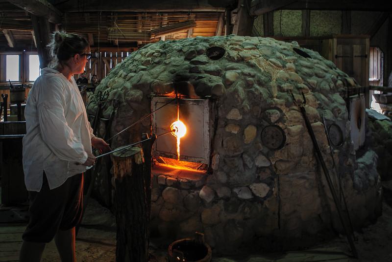 Glassblower @ Jamestown Glasshouse - Jamestown Island, VA