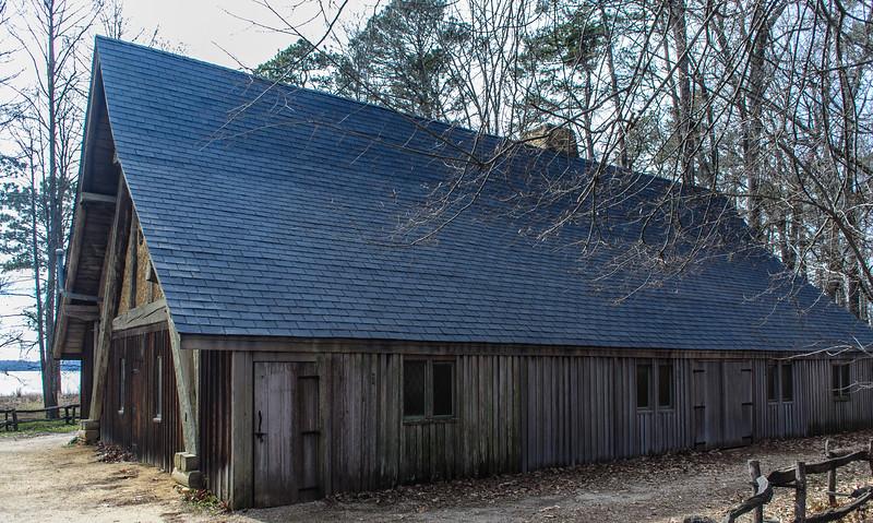 Jamestown Glasshouse c. 1976 - Jamestown Island, VA