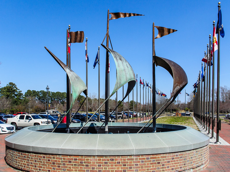 A Fair Wind (David Turner) c. 2010 Greets Visitors @ Jamestown Settlement - Jamestown, VA