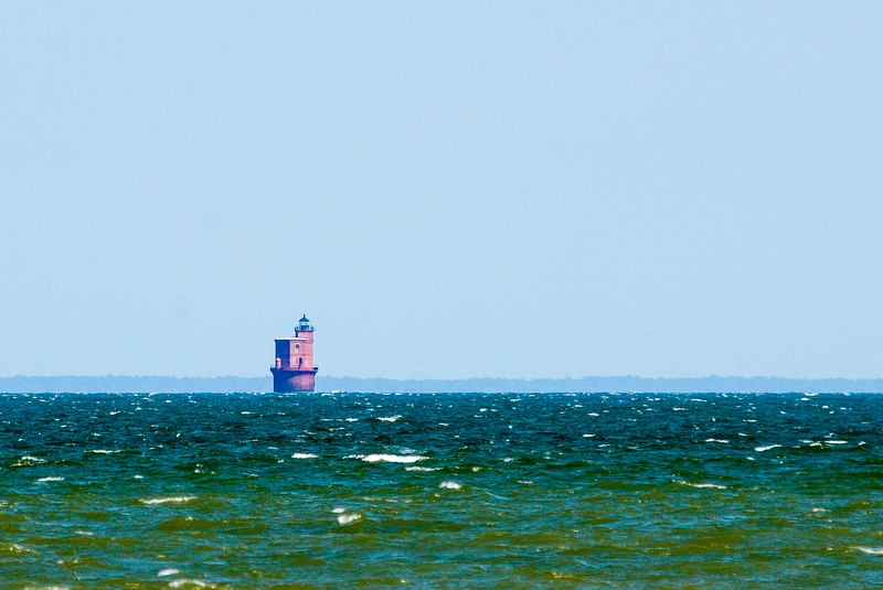 Wolf Trap Light c. 1894 from Bethel Beach Natural Area Preserve