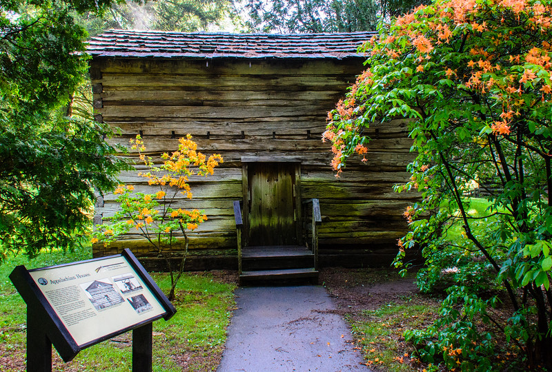 Samuel & Elizabeth Matthews Cabin c. 1868 @ Mabry Mill - Blue Ridge Parkway, Meadows of Dan, VA
