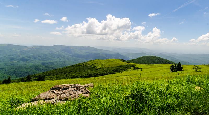 View Toward Buzzard Rocks from Whitetop Mountain - Mt. Rogers, NRA, Whitetop, VA