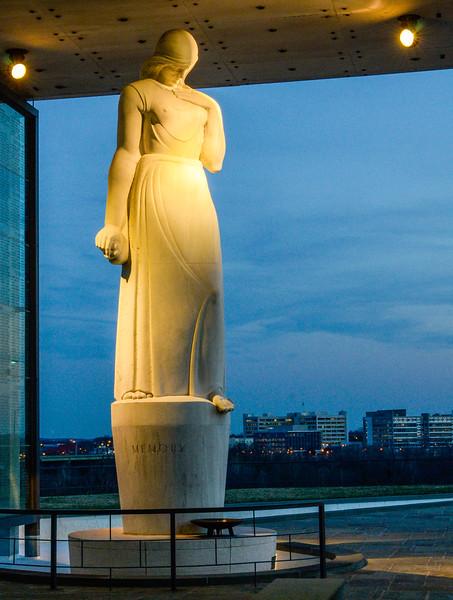 Memory Statue @ Dusk - Virginia War Memorial,  Richmond, VA