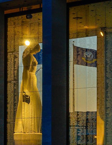 Virginia War Memorial At Night - Virginia War Memorial,  Richmond, VA
