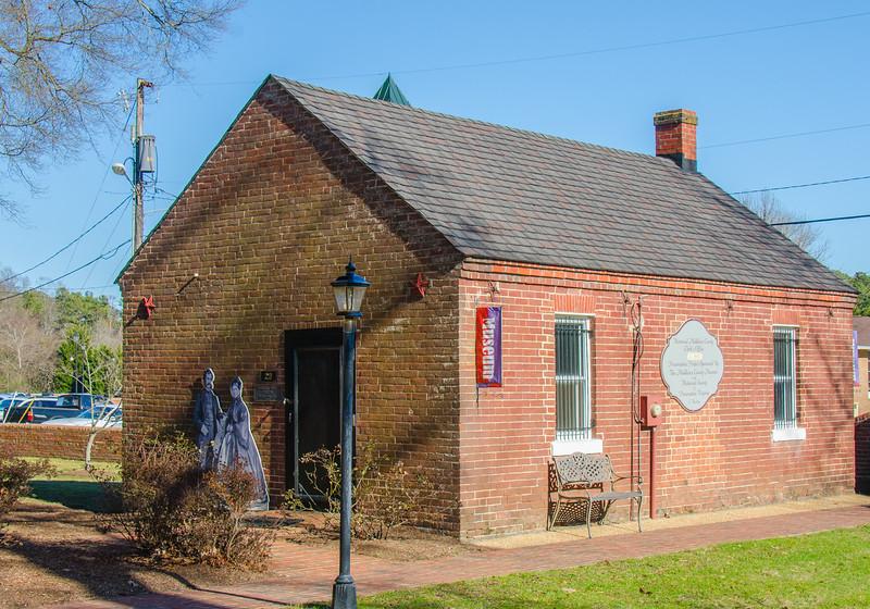 Historical Middlesex County Clerk's Office c. 1852 - Saluda, VA