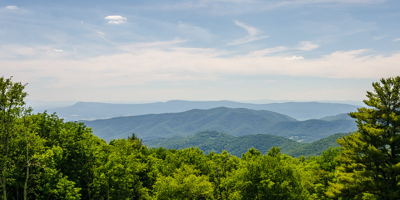 Zoomed In: Massanutten & Grindstone Mountains & Long Ridge from Hazeltop Ridge Overlook - Mile 54.4, Skyline Drive, Shenandoah National Park, Luray, VA