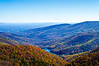 Charlottesville Reservoir from Moormans River Overlook - Mile 92, Skyline Drive, Shenandoah National Park, Crozet, VA