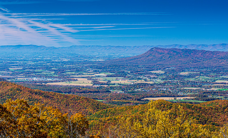 Elkton & Massanutten Mountain @ The Oaks Overlook - Mile 59, Skyline Drive, Shenandoah National Park, Elkton, VA