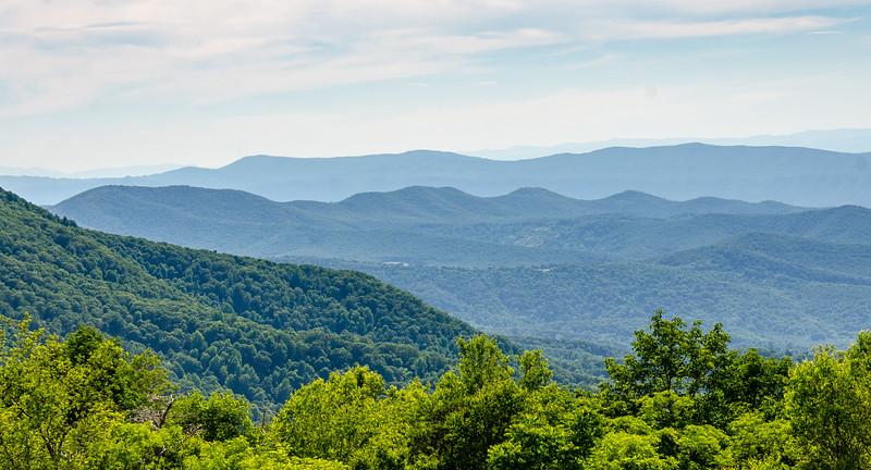 Dovel, Massenutten & Devils Tanyard Mountains from Spitler Knoll Overlook - Mile 48.1, Skline Drive, Shenandoah National Park, Stanley, VA
