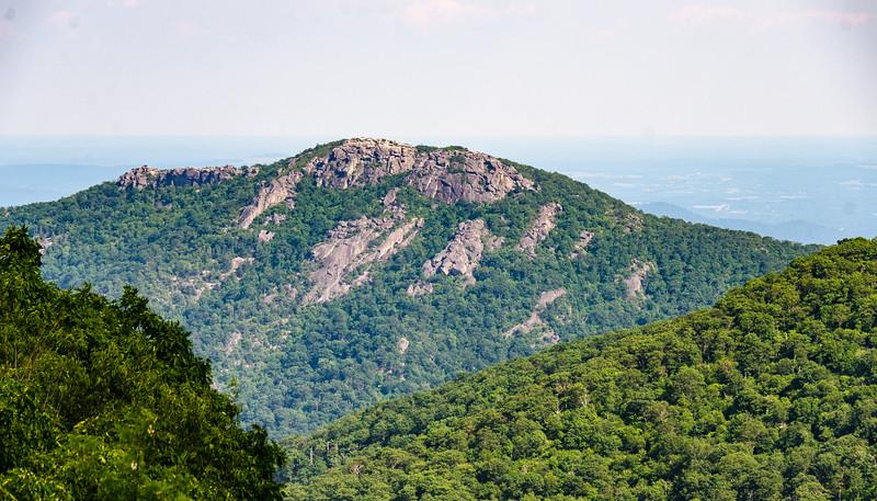 Face of Old Rag Mountain from Thorofare Mountain Overlook - Mile 40.5, Skline Drive, Shenandoah National Park, Luray, VA