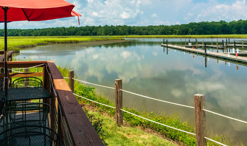 View from Our Table @ The Surry Seafood Company - Surry, VA