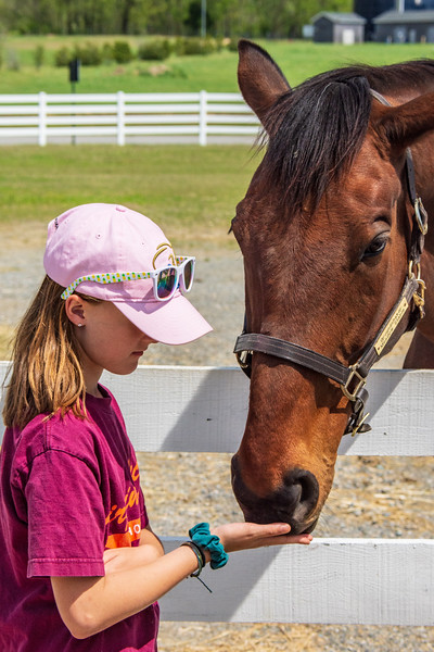Girl Feeding Groundshaker @ The Meadow - Caroline County, VA