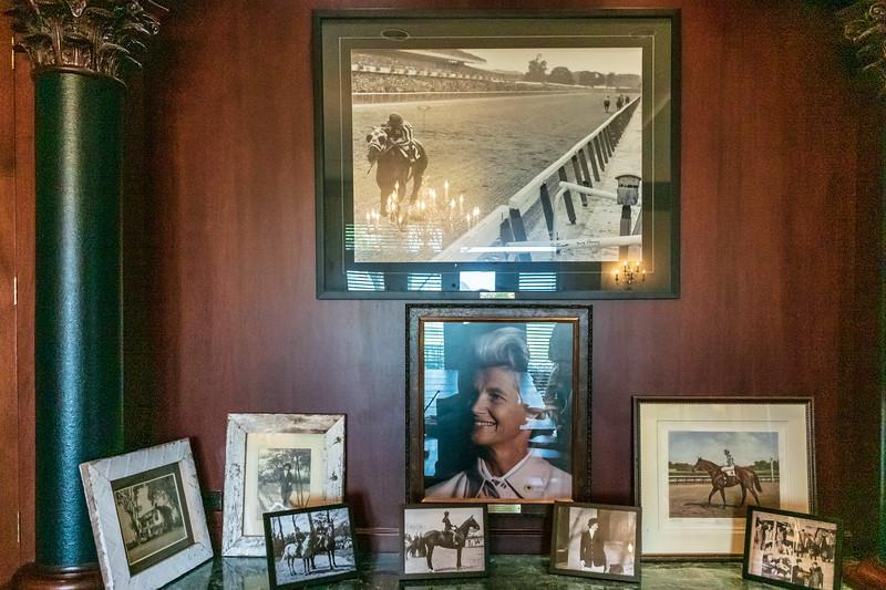 Photographs of Secretariat, Penny Chenery, et al in Meadow Hall @ The Meadow - Caroline County, VA