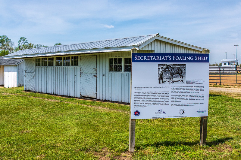 Secretariat's Foaling Shed @ The Meadow - Caroline County, VA