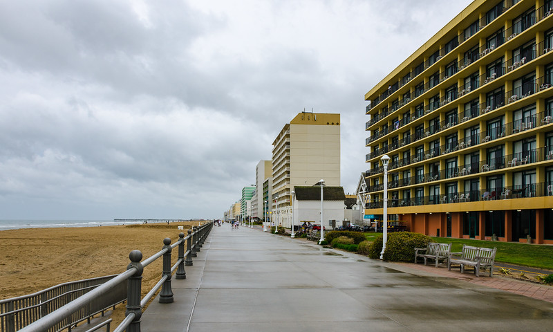 Rainy Morning on the Boardwalk - Virginia Beach, VA