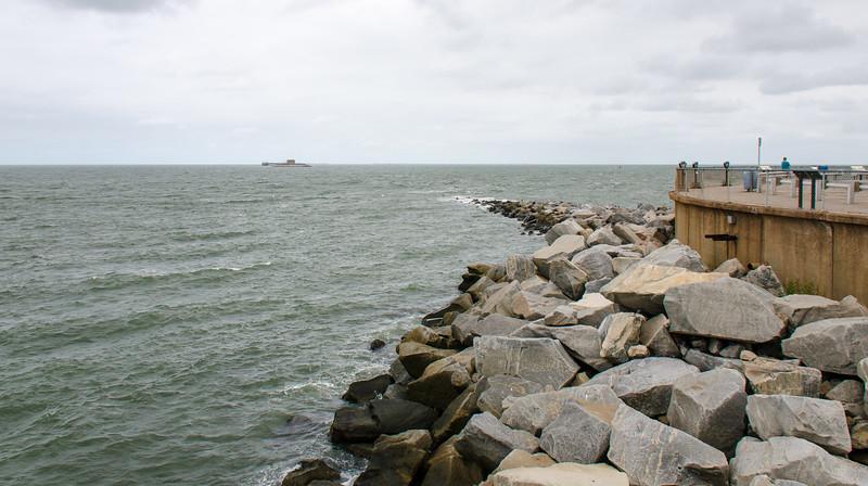 View of Island 2 from Island 1 @ Chesapeake Bay Bridge Tunnel - Virginia Beach, VA