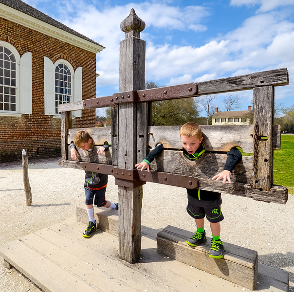 Boys in the Stocks @ Colonial Williamsburg - Williamsburg, VA