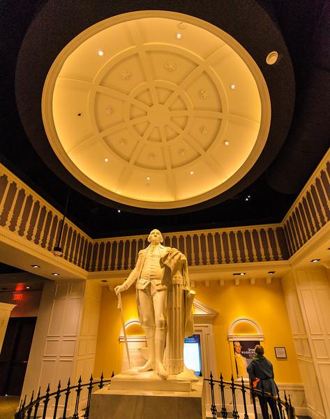 Copy of George Washington Statue by Jean Antoine Houdon @ American Revolution Museum at Yorktown - Yorktown, VA