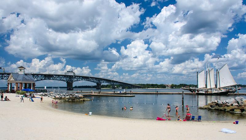 Schooner Alliance & Coleman Bridge - Yorktown, VA