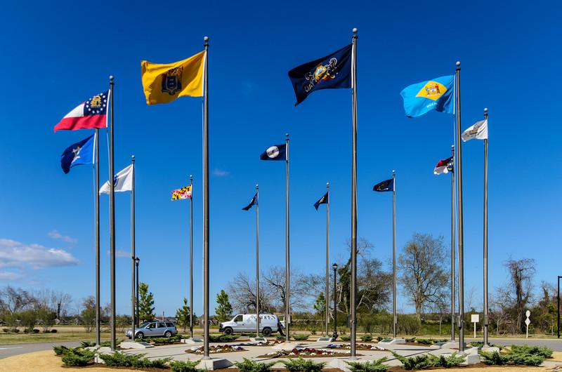Flag Court @ American Revolution Museum at Yorktown - Yorktown, VA