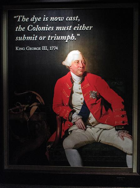 """The dye is now cast.."" King George III poster @ American Revolution Museum at Yorktown - Yorktown, VA"