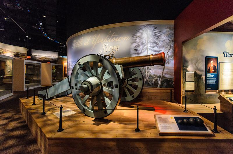 Cannon in the Yorktown Siege Exhibit @ American Revolution Museum at Yorktown - Yorktown, VA