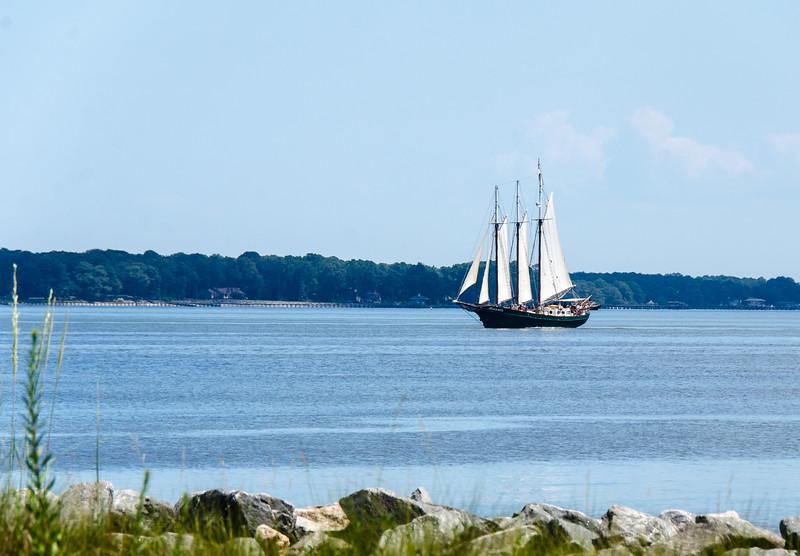 Schooner Alliance on the York River - Yorktown, VA