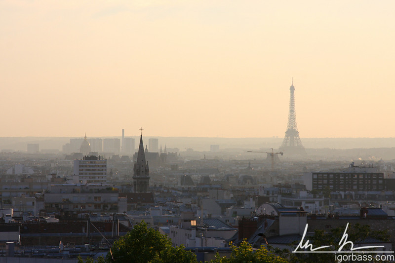 Paris from Belleville Park (Paris, FR)