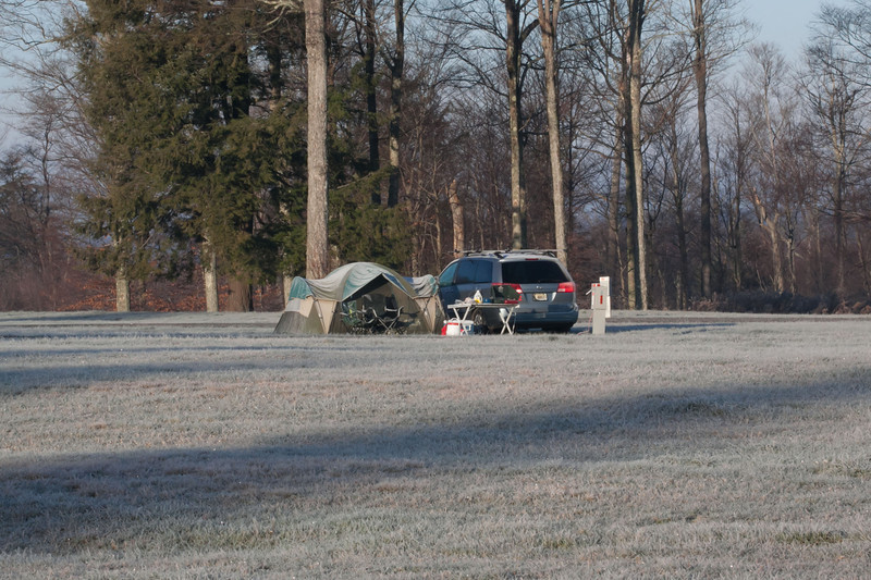 Our campsite at the Astronomy field