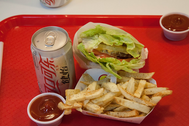 Chines clone if in-and-out burger.  This was actually founded by an American.