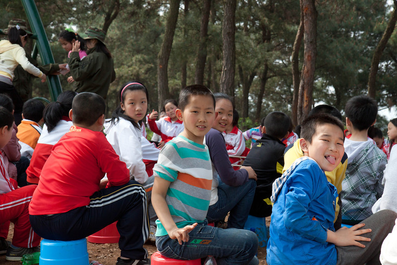 several groups of children were also at the camp.  They were very interested in us since were were very different.