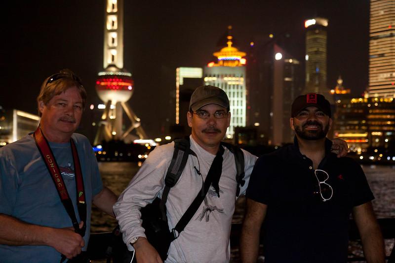 Shanghai Bund at night.
