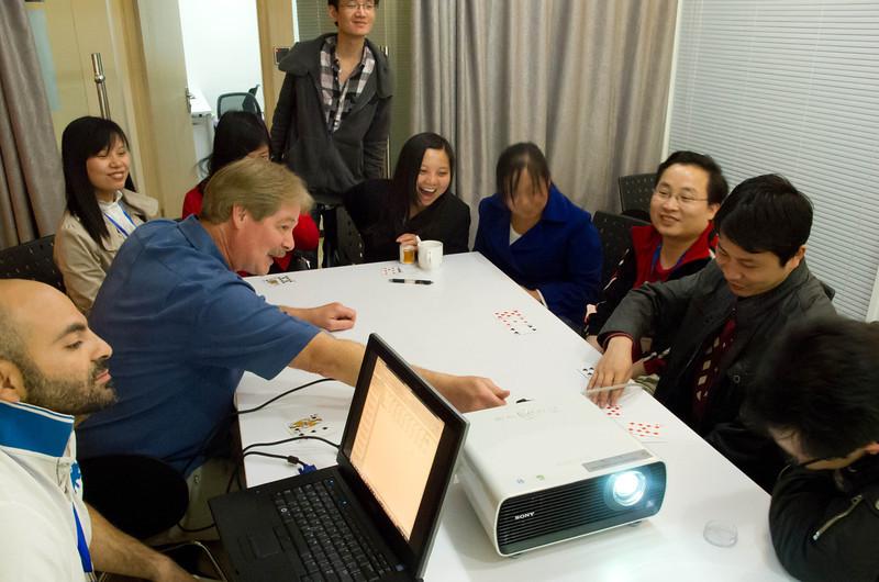 teaching black-jack to Wuhan software development team.