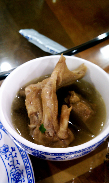 Duck soup, with foot