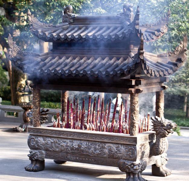 Buddhist prayer shrine.
