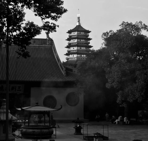 Buddhist temple courtyard