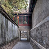 alley between buildings at the summer palace.